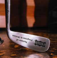"A golf club engraved with ""Frisco, Partner of Progress in Motion"" was presenented to Darrell Crall, PGA of America Chief Operating Officer, following a Frisco City Council meeting at George A. Purefoy Municipal Center in Frisco, Texas on Tuesday, December 4, 2018.(Shaban Athuman/Staff Photographer)"