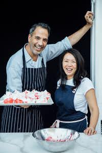 Yotam Ottolenghi and Helen Goh, authors of <i>Sweet</i>(Peden+Munk/Ten Speed Press)