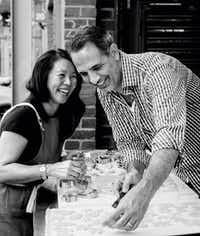 Yotam Ottolenghi and Helen Goh, authors of <i>Sweet: Desserts  from  London's  Ottolenghi</i>.(Altaimage/Ten Speed Press)