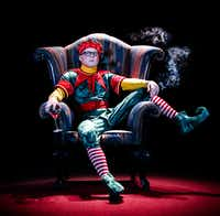 Zak Reynolds performs in the one-person show <i>Santaland Diaries</i>, presented by Casa Manana Theatre Dec. 6-22 in the Reid Cabaret Theatre in Fort Worth.(Chip Tompkins)