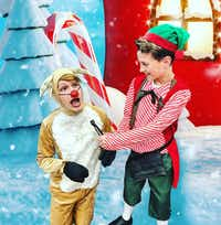 Luke Matthews plays Hermey the Elf, Trevor Turnbow plays Rudolph and Danny Bass plays Bumble in 'Rudolph the Red-Nosed Reindeer Jr.,' presented by Ohlook Performing Arts Center in Grapevine Dec. 7-2(TJ Mundell)
