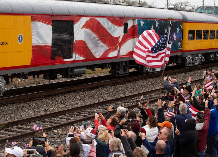 A Special Train 4141 Took George Bush To His Final Resting Place