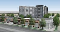 """<p><span style=""""font-size: 1em; background-color: transparent;"""">The new Courtyard and Residence Inn hotels and retail space would be built on Mockingbird Lane west of Love Field.</span><br></p>(BOKA Powell)"""