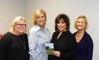 The Legacy Midtown Park capital campaign leadership team included (left to right) Sharon Levin, vice chair; Marion Glazer, co-chair; Carol Aaron, co-chair; and Andrea Statman, director of development for The Legacy Senior Communities.(The Legacy Senior Communities)