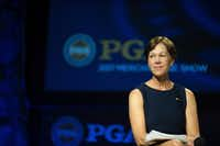 Suzy Whaley was elected president of the PGA of America last month.(Traci Edwards/The Associated Press)