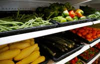 Bonton Farms offers vegetables, meat, milk, eggs and other items as well as dine-in or carryout meals.(Vernon Bryant/Staff Photographer)
