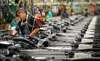 In 2015, GM invested $1.4 billion in upgrades at its SUV assembly plant in Arlington.(Mike Stone for General Motors)