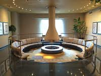 A conversation pit at the former Braniff Hostess College on the Dallas North Tollway.(Mark Lamster)