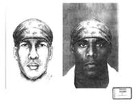 Prosecutors showed a side-by-side comparison of a police sketch of the alleged killer and rapist and Alvin Braziel Jr. during the 2001 capital murder trial.&nbsp;(<br>/Dallas County court records)