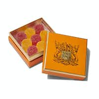Lord Jones High CBD all-natural, old-fashioned gumdrops, $45. Available in Dallas at  Stanley Korshak, Grange Hall, The Greenway Shop, Outdoor Voices, Forty Five Ten and online at lordjones.com.(Lord Jones)