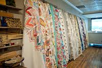 Quilts and pillows from Dallas-based textile maker Ida Mae Home, $69-$200. Preston Royal Village, 6025 Royal Lane, Dallas. idamaehome.com.(Tamytha Cameron)