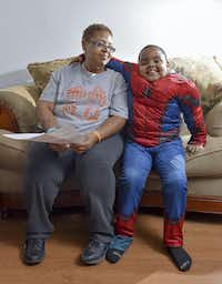 Shereese Hickson supports herself and her son, Isaiah, on $770 a month. (Shane Wynn/Kaiser Health News)