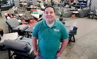 In this Tuesday, Dec. 11, 2018, photo Brad Schweig, co-owner of Sunnyland Furniture, poses for a photo at his store in Dallas.(LM Otero/AP)