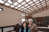 From left, Brad Schweig, Debbie Schweig, and David Schweig of Sunnyland Furniture photograph Friday March 6, 2015 in the new and still being built Gallery. The Gallery will will show high-end patio living. (Ron Baselice/The Dallas Morning News) 03112015xBIZ(Ron Baselice/Staff Photographer)