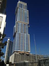 Austin's 58-story Independent high-rise — also known as Jenga Tower — is the tallest new building in Texas.(Steve Brown)