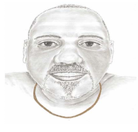 Dallas police released this sketch of a man whose body was found floating in a West Dallas creek earlier this month.(Dallas Police Department)