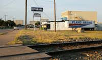 Avenue K near the 12th street in Plano is the planned site of the 12th Street DART Station. The east-west Cotton Belt commuter line will also cross through the location.(Vernon Bryant/Staff Photographer)