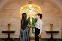 first lady Michelle Obama with stylist Meredith Koop at the White House in Washington, in September 2016.(AMANDA LUCIDON/NYT)