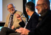 "<p>In 2017, (from left) Rick Brettell, Dallas architect Gary Cunningham and&nbsp;<span style=""font-size: 1em; background-color: transparent;"">San Francisco landscape architect Peter Walker speak on a panel at the Nasher Sculpture Center in Dallas.&nbsp;</span></p>(Ashley Landis/Staff Photographer)"