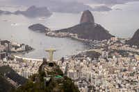The Christ the Redeemer statue towers over Rio de Janeiro. Brazil borders all but two countries in South America.(The Dallas Morning News/2016 File Photo)