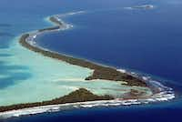Tuvalu is the least visited country on Earth, despite the natural beauty of the Funafuti coastline. (2004 File Photo/Agence France-Presse)