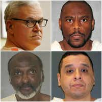 <p>Clockwise from top left: John Battaglia, Alvin Braziel Jr.,&nbsp;Joseph Garcia&nbsp;and&nbsp;William Rayford&nbsp;were all executed this year. Each was convicted of capital murder in Dallas County.</p>(File photos)