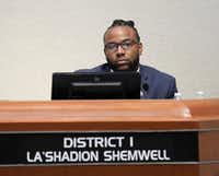 Community members gathered at a May 15 council meeting to discuss council member La'Shadion Shemwell's accusation that a McKinney police officer racially profiled him during a traffic stop.(Jason Janik/Special Contributor)