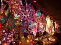 Illuminated stars and other holiday decorations are staples at Christmas markets in Mainz and other German cities.(Travis Pinson/Special Contributor)