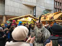 An enthusiastic crowd braved the light rain during Munich's Krampus run on Dec. 9. The Krampuses will parade through the city again on Dec. 23.(Ann Pinson/Special Contributor)