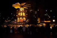 Christmas pyramids, like this one in Munich, are popular at German holiday markets.(Ann Pinson/Special Contributor)
