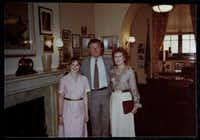 """<p><span style=""""font-size: 1em; background-color: transparent;"""">Nancy Cheney (right) was photographed with her daughter, Allison Cheney, and Sen. Ted Kennedy in Kennedy's Washington office in the mid-1980s.</span></p>"""