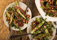 Warm Okra and Red Onion Salad with Pine Nuts can send you into vegetable nirvana. Who said you don't like vegetables?(Ryan Michalesko/Staff Photographer)