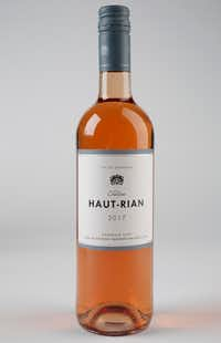 Chateau Haut Rian Bordeaux Rose photographed in The Dallas Morning News studio in Dallas on Tuesday, Oct. 2, 2018. (Rose Baca/The Dallas Morning News)(Rose Baca/Staff Photographer)