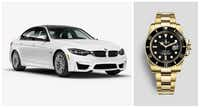 Authorities say Donald Conkright bought a $128,000 BMW and two Rolex watches.(BMW, Rolex)