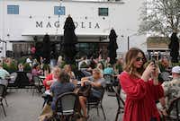 Magnolia Market — Waco's major tourist attraction — is one of AT&T's testing sites for 5G.  AT&T chose it for the pilot because it has heavy foot traffic and visitors frequently share social media posts. (Rod Aydelotte/The Associated Press)