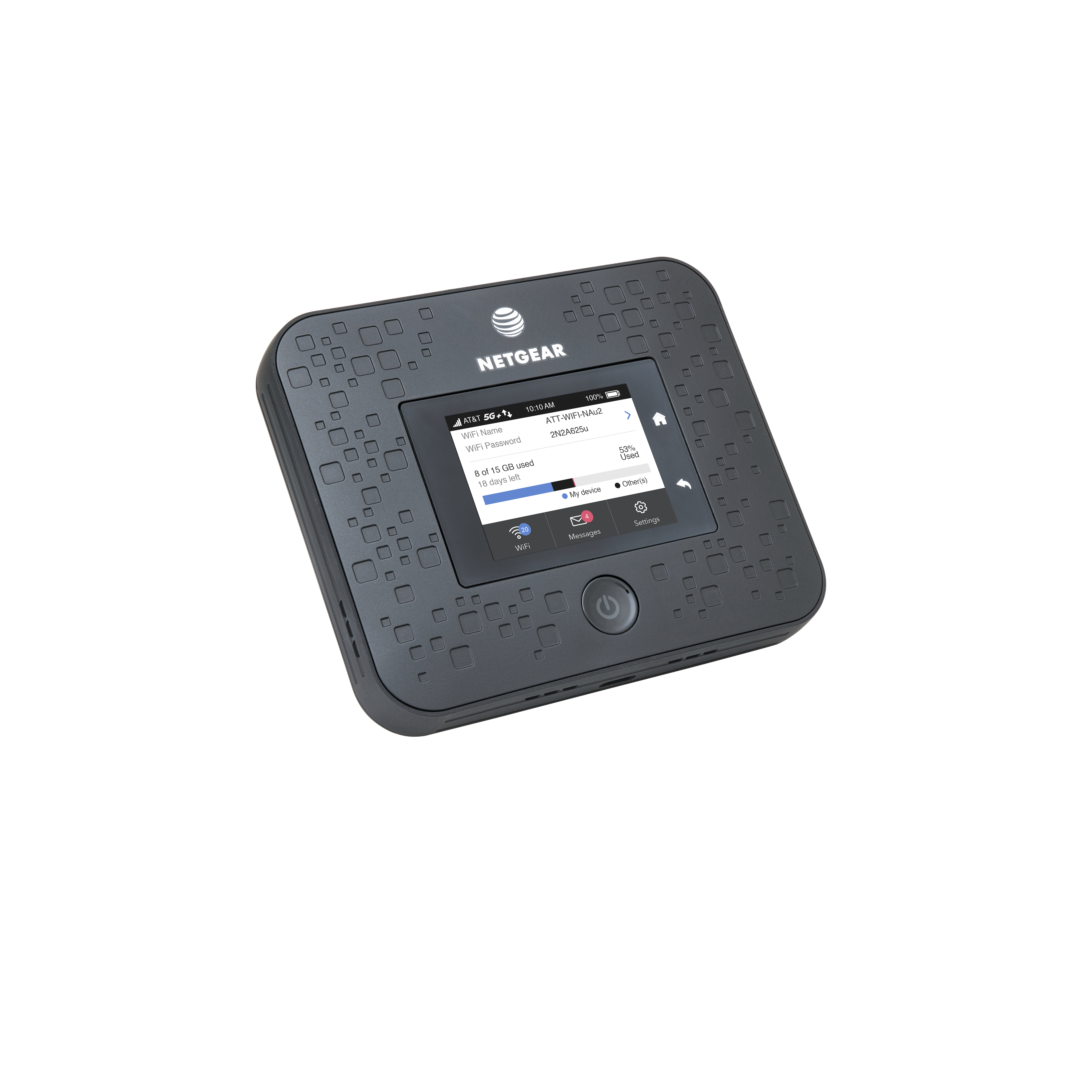 "<p><span style=""font-size: 1em; background-color: transparent;"">Starting this spring, the Netgear Nighthawk 5G Mobile Hotspot will be available for $499, with a 15-gigabyte plan costing $70 a month.</span></p>(Courtesy of AT&T)"