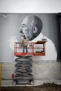 This mural of Neiman Marcus retail legend Stanley Marcus was commissioned by Shannon Wynne. Artist Brent Hale from Tyler took two weeks to paint the mural, which resembles a photograph of Marcus from the early 70s. The mural is at 2120 S. Ervay St. in The Cedars, near where Marcus lived as a child. The mural was photographed by Marcus' granddaughter, photographer and artist Allison V. Smith.(Allison V. Smith/Special Contributor )