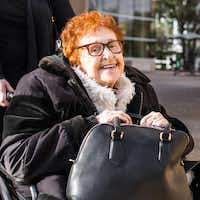 Janet Fein, 84, completed a long-held goal of getting her bachelor's degree when she graduated Wednesday from The University of Texas at Dallas.(The University of Texas at Dallas)