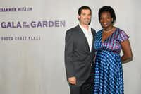 Justin Crosby and Njideka Akunyili Crosby attend the Hammer Museum 16th Annual Gala in the Garden on Oct. 14, 2018 in Los Angeles, Calif. (Emma McIntyre/Getty Images for Hammer Museum)