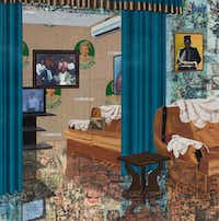 Njideka Akunyili Crosby's <i>Home: As You See Me, </i>2017.  (The artist and Victoria Miro, London)(Njideka Akunyili Crosby/Victoria Miro, London)