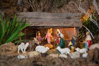 Carmen Meza of Dallas has built a Nativity scene in her home every year since 1964. Some pieces come from France, Mexico and California. (Daniel Carde/Staff Photographer)