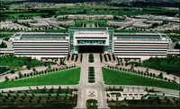 The huge former EDS campus was once the centerpiece for the entire Legacy business park in West Plano.(AP)