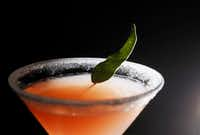 Grapefruit Martini, an infused cocktail made with a grapefruit-infused vodka at Harvest Seasonal Kitchen(Vernon Bryant/Staff Photographer)