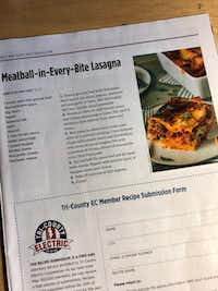 Score! The recipe gets sent to electricity customers in parts of 16 North Texas counties.(Dave Lieber/Staff photo)