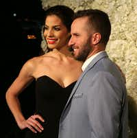 Dallas Mavericks point guard J.J. Barea and wife Viviana Ortiz  helped  coordinate  relief efforts after Hurricane Maria struck Puerto Rico.   (Rose Baca/Staff Photographer)