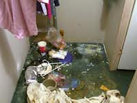 Several days after Lauren's rescue, authorities took this photo of the closet where she was held prisoner inside the Hutchins mobile home of Barbara and Kenneth Atkinson(File Photo)