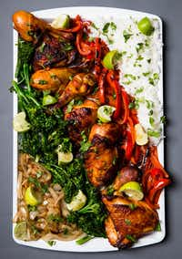 Gochujang sheet pan chicken and vegetables (Ashley Landis/Staff Photographer)