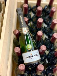 Ferrari Brut non-vintage sparkling wine can be difficult to find in Dallas-Fort Worth, but it's worth seeking out at retailers such as Central Market and Jimmy's Food Store in Dallas.(Michael Hiller)