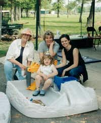 "<p>A year after her rescue, Lauren Kavanaugh celebrated her ninth birthday with (from left) <span style=""font-size: 1em; background-color: transparent;"">therapist Sondra Mahoney, court-appointed advocate Leslie Baker and CPS caseworker Kim Higgins.</span></p>(Courtesy)"