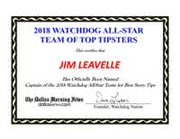 Each of the All-Star tipsters will receive this commemorative certificate.